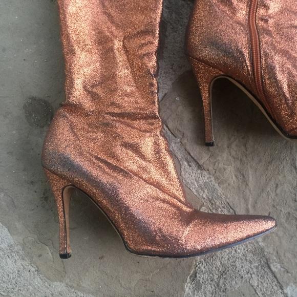designer glitter boots